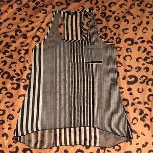 DEB BRAND FITTED SHEER TOP Women's Size Small